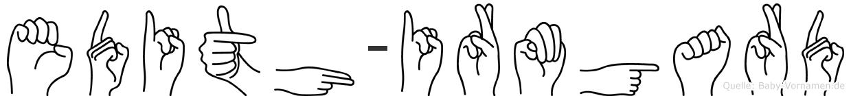 Edith-Irmgard im Fingeralphabet der Deutschen Gebärdensprache