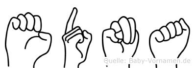 Edna in Fingersprache für Gehörlose