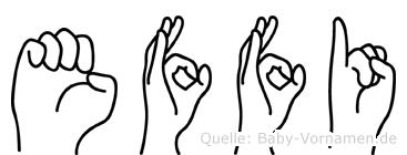 Effi in Fingersprache für Gehörlose