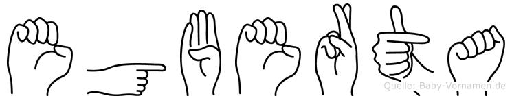 Egberta in Fingersprache für Gehörlose
