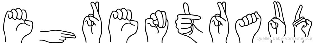 Ehrentraud in Fingersprache für Gehörlose