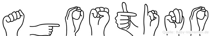 Agostino in Fingersprache für Gehörlose