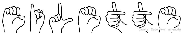 Eilette im Fingeralphabet der Deutschen Gebärdensprache