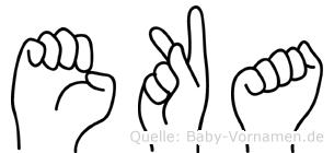 Eka im Fingeralphabet der Deutschen Gebärdensprache