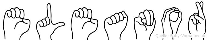 Eleanor im Fingeralphabet der Deutschen Gebärdensprache
