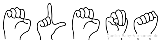Elena in Fingersprache für Gehörlose