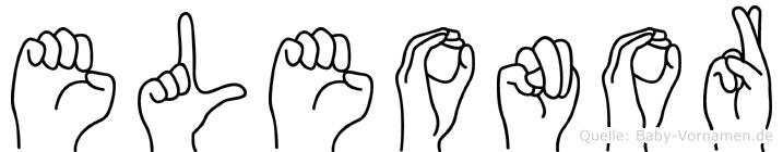 Eleonor im Fingeralphabet der Deutschen Gebärdensprache