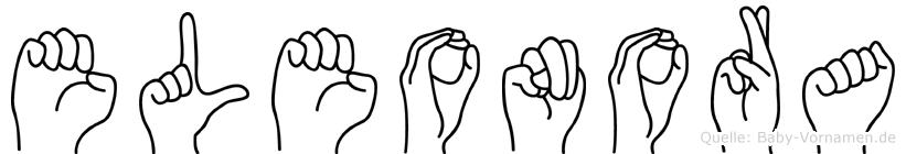 Eleonora in Fingersprache für Gehörlose