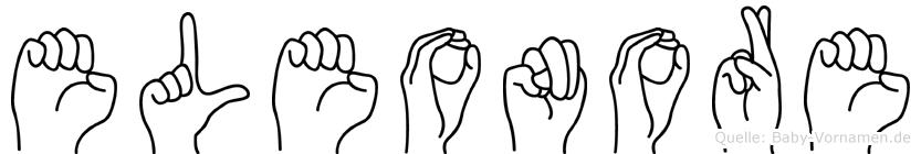 Eleonore im Fingeralphabet der Deutschen Gebärdensprache