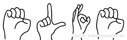 Elfe im Fingeralphabet der Deutschen Gebärdensprache