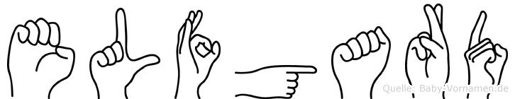 Elfgard im Fingeralphabet der Deutschen Gebärdensprache