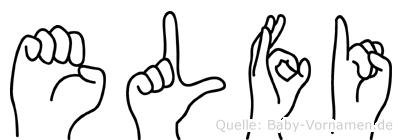 Elfi im Fingeralphabet der Deutschen Gebärdensprache