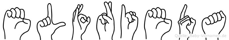Elfrieda im Fingeralphabet der Deutschen Gebärdensprache