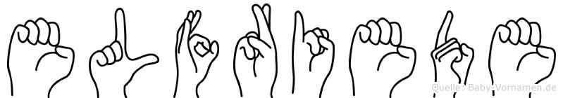 Elfriede in Fingersprache für Gehörlose