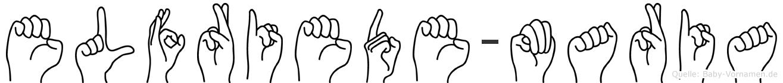 Elfriede-Maria im Fingeralphabet der Deutschen Gebärdensprache