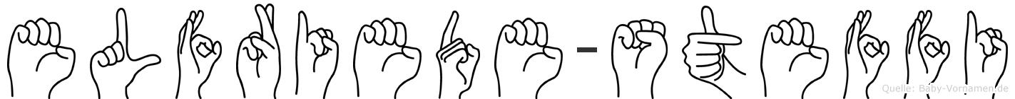 Elfriede-Steffi im Fingeralphabet der Deutschen Gebärdensprache