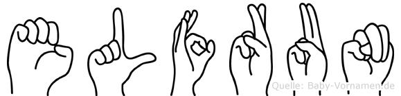 Elfrun im Fingeralphabet der Deutschen Gebärdensprache