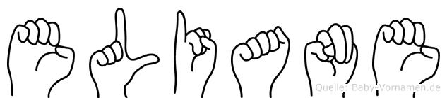 Eliane in Fingersprache für Gehörlose