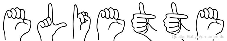 Eliette in Fingersprache für Gehörlose