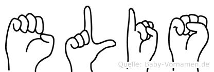Elis im Fingeralphabet der Deutschen Gebärdensprache