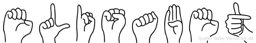 Elisabet in Fingersprache für Gehörlose