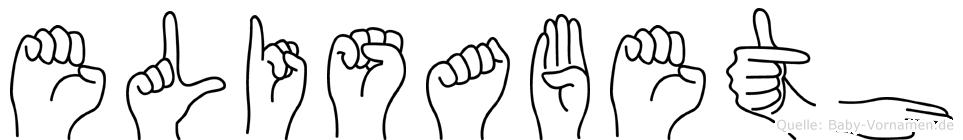 Elisabeth in Fingersprache für Gehörlose