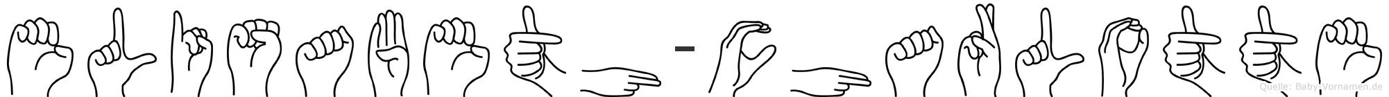 Elisabeth-Charlotte im Fingeralphabet der Deutschen Gebärdensprache
