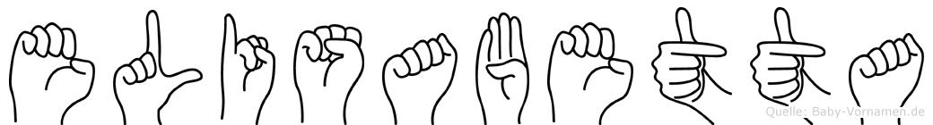 Elisabetta im Fingeralphabet der Deutschen Gebärdensprache