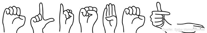 Elisbeth im Fingeralphabet der Deutschen Gebärdensprache