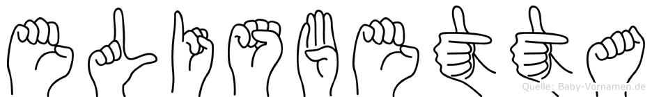 Elisbetta im Fingeralphabet der Deutschen Gebärdensprache