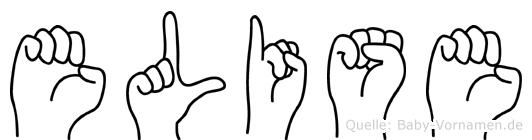 Elise im Fingeralphabet der Deutschen Gebärdensprache