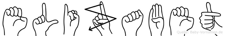 Elizabet in Fingersprache für Gehörlose