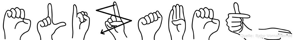 Elizabeth in Fingersprache für Gehörlose