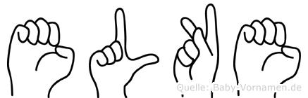 Elke in Fingersprache für Gehörlose