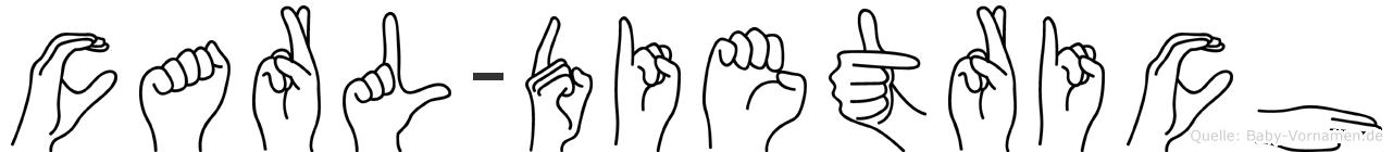 Carl-Dietrich im Fingeralphabet der Deutschen Gebärdensprache