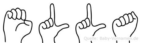 Ella in Fingersprache für Gehörlose
