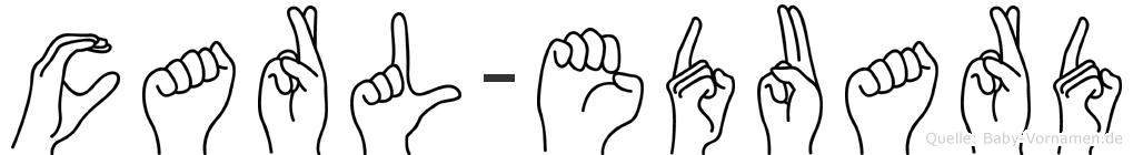 Carl-Eduard im Fingeralphabet der Deutschen Gebärdensprache
