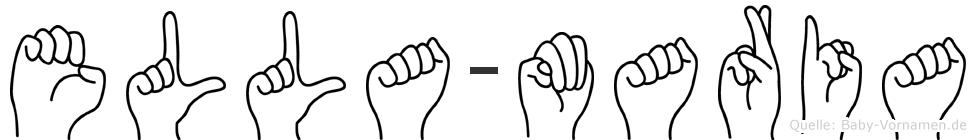 Ella-Maria im Fingeralphabet der Deutschen Gebärdensprache