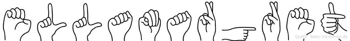 Ellamargret im Fingeralphabet der Deutschen Gebärdensprache