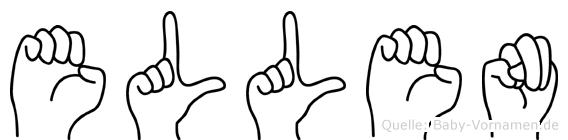 Ellen in Fingersprache für Gehörlose