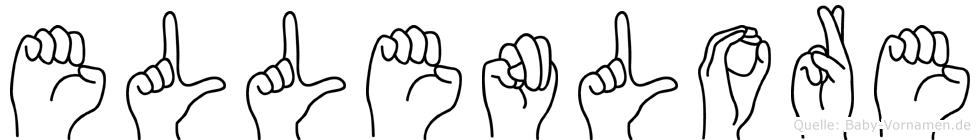 Ellenlore im Fingeralphabet der Deutschen Gebärdensprache