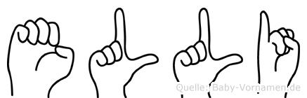 Elli im Fingeralphabet der Deutschen Gebärdensprache