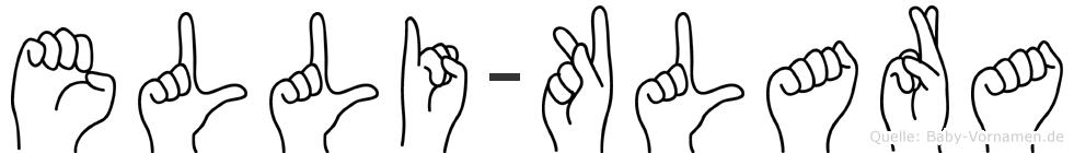 Elli-Klara im Fingeralphabet der Deutschen Gebärdensprache