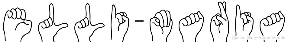 Elli-Maria im Fingeralphabet der Deutschen Gebärdensprache