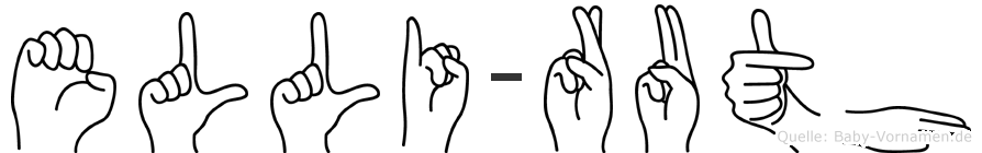 Elli-Ruth im Fingeralphabet der Deutschen Gebärdensprache
