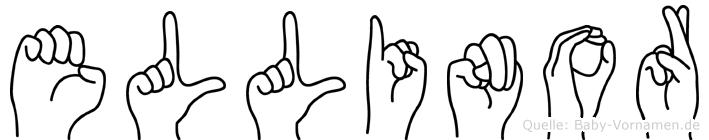 Ellinor im Fingeralphabet der Deutschen Gebärdensprache