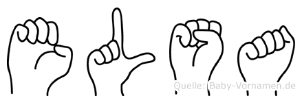 Elsa in Fingersprache für Gehörlose