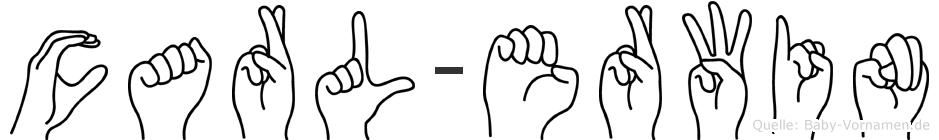 Carl-Erwin im Fingeralphabet der Deutschen Gebärdensprache