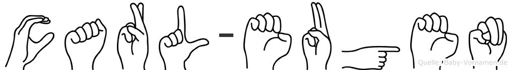 Carl-Eugen im Fingeralphabet der Deutschen Gebärdensprache
