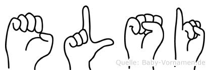 Elsi im Fingeralphabet der Deutschen Gebärdensprache